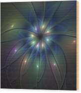 Luminous Fractal Art Wood Print