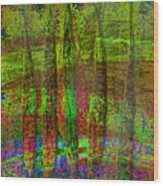 Luminous Landscape Abstract Wood Print
