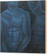 Luna Azul Wood Print