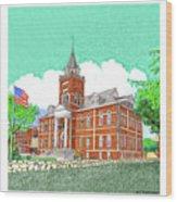 Luna County Court House  Deming  N M   Wood Print
