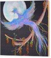 Luna Phoenix Wood Print