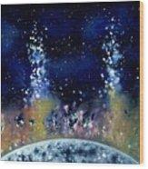 Lunar Genesis Wood Print