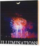 Lunar Illumanations Epcot Wood Print