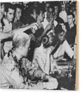 Lunch Counter Sit-in, 1963 Wood Print by Granger