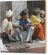 Lunch In Jaipur India Wood Print
