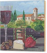 Lunch In Provence Wood Print