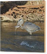 Lunch On The Neuse River Wood Print by George Randy Bass