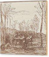 Luncheon In A Clearing (un Dejeuner Dans La Clairiere) Wood Print
