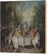 Luncheon Party In A Park Wood Print