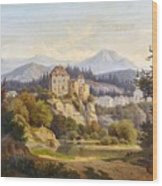 Lunde, Anders Christian Copenhagen 1809 - 1886 Grotta Ferrata. Oil On Canvas. Relined Wood Print