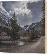 Lundy Lake Road Wood Print