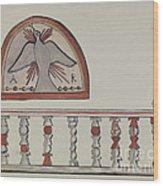 Lunette From Altar-church At Llano Quemado Altar Rail-church At Sanctuario, Chimayo Wood Print