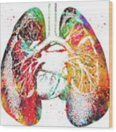 Lungs And Heart Wood Print