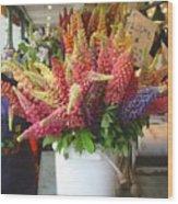 Lupine Flower Boquet Wood Print