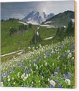 Lupine Storm Wood Print
