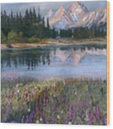 Lupines At Pilgrim Creek Wood Print