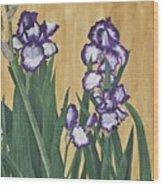 Luscious Iris Wood Print