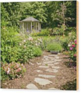 Lush Landscaped Garden Wood Print