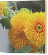 Lush Sunflowers Wood Print