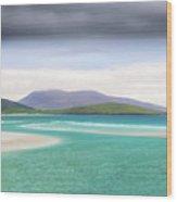 Luskentyre Beach On The Scottish Isle Of Harris .  Wood Print