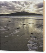 Luskentyre Beach Sunset Wood Print