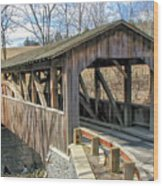Luther Mills Bridge Wood Print
