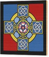 Lutheran Cross Wood Print