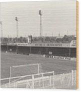 Luton Town - Kenilworth Road - Bobbers Stand West Side 1 - Bw - August 1969 Wood Print