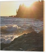 Lutsen Shore Wood Print