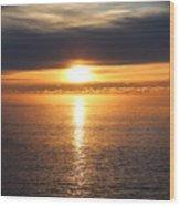 Lutsen Shore Sunrise Two Wood Print