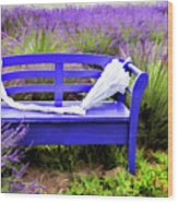 Luvin Lavender Farm Bench Wood Print