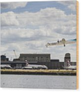Lux Air London City Airport Wood Print