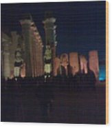 Luxor City In Egypt Wood Print