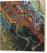 Luxuriant Fractal Wood Print