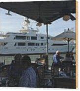 Luxurious Boat In Galveston  Wood Print