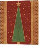 Luxurious Christmas Card Wood Print