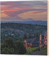 Luxury Homes In Happy Valley Oregon Wood Print