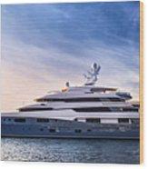 Luxury Yacht Wood Print