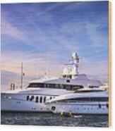 Luxury Yachts Wood Print by Elena Elisseeva