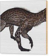 Lycaenops Dinosaur Walking, White Wood Print