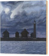 Lydia Ann Lighthouse Wood Print