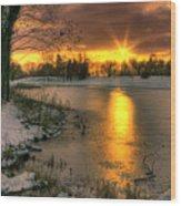 Lydiard Sunset Wood Print