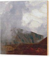 Lying Dormant In The Clouds II- Haleakala Wood Print
