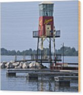 Lyman Harbor Lighthouse Wood Print