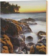 Lyman's Sunset Wood Print