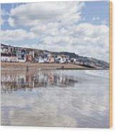 Lyme Regis Seafront Wood Print