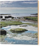 Lyme Regis Seascape 4 - October Wood Print