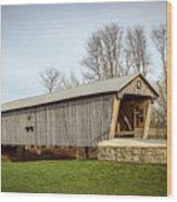 Lynchburg Covered Bridge Wood Print