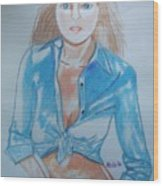 Lynda Carter Wonder Woman  Wood Print