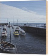Lynmouth Harbour Wood Print